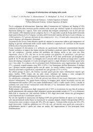 Campagna di informazione sul doping nelle scuole - Istituto ...