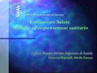 comunicare salute: website ed empowerment sanitario - mirella ...