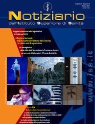 La legionellosi in Italia nel 2010 (f.to PDF) Vol.24, n.10 - Ottobre 2011