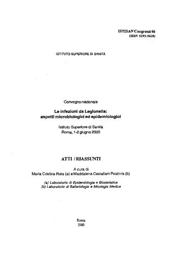 Istisan Congressi N. 66 (Pag. 1 - 81). [PDF - 2021.12 kbytes] - Istituto ...