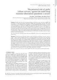 The potential role of garlic (Allium sativum) - Istituto Superiore di ...