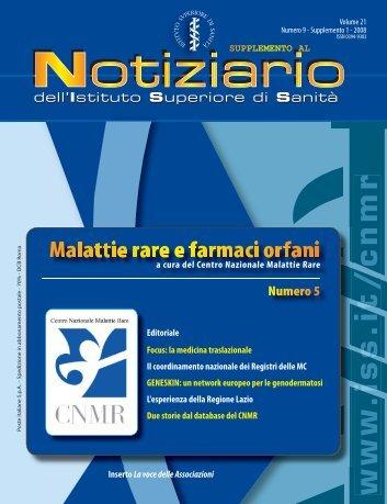 a cura del Centro Nazionale Malattie Rare (CNMR). - Istituto ...