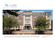 ISS is the international Institute of Social Studies of Erasmus ...