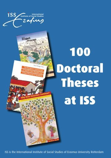 100 Doctoral Theses at ISS