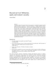 Beyond survival: Militarism, equity and women's security - ISS
