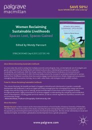 Women reclaiming sustainable livelihoods; spaces lost spaces gained