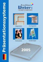 Präsentationssysteme - Druckhaus Weber Gmbh