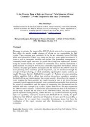 Is the Poverty Trap a Relevant Concept? Sub-Saharan African ... - ISS