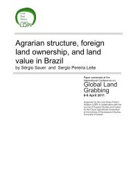 Agrarian structure, foreign land ownership, and land value in ... - ISS