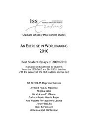 AN EXERCISE IN WORLDMAKING - ISS