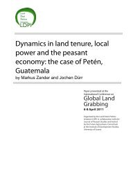 Dynamics in land tenure, local power and the peasant economy - ISS
