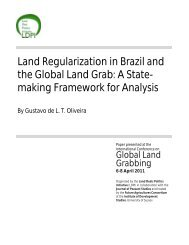 Land Regularization in Brazil and the Global Land Grab - Future ...