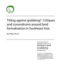 Titling against grabbing? Critiques and conundrums around ... - ISS
