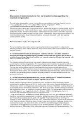 Annex 1 Discussion of recommendations from participation ... - ISS