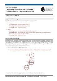 Technische Grundlagen der Informatik 5. Musterlösung – Automaten ...