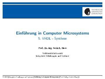 Einführung in Computer Microsystems