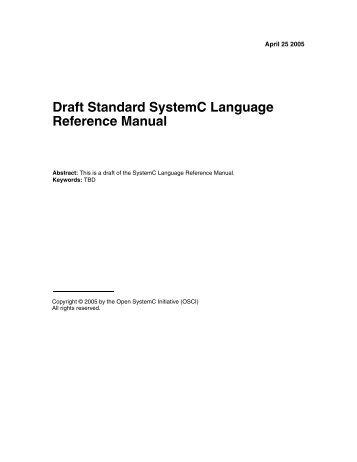 Draft standard systemc language reference manual - IDA