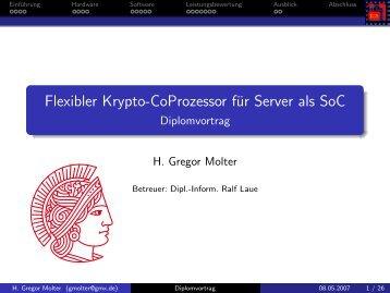 Flexibler Krypto-CoProzessor für Server als SoC - Diplomvortrag