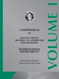 Compendium of Key Documents Relating to Gender and ...