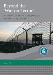 Beyond the 'War on Terror' A Study of Criminal Justice Responses to ...