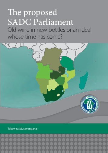 The proposed SADC Parliament - Institute for Security Studies