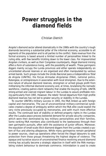 Power struggles in the diamond fields - Institute for Security Studies
