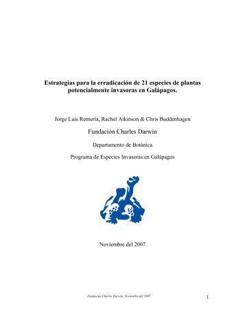Estrategias para la erradicación de 21 especies de plantas ...