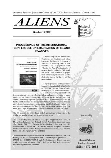 ALIENS - IUCN Invasive Species Specialist Group