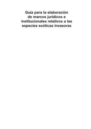Guía para la Elaboración de Marcos Jurídicos e Institucionales ...