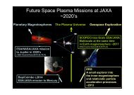 Future Space Plasma Missions at JAXA ~2020's