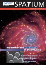 In Search of the Dark Matter in the Universe In Search of the ... - ISSI
