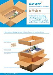 Retention and shipping packaging Tremendous handling advantage ...