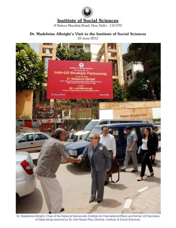 Dr. Madeleine Albright's Visit to the Institute of Social Sciences, 25 ...