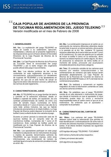 Caja Popular de Ahorros de la Provincia - Instituto de Seguridad ...