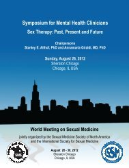 Menthal Health Symposium - World Meeting on Sexual Medicine 2012