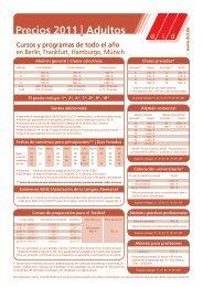 Precios 2011 Adultos - did Deutsch-Institut