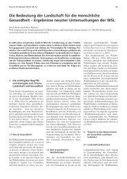Die Bedeutung der Landschaft für die menschliche Gesundheit - ISSW