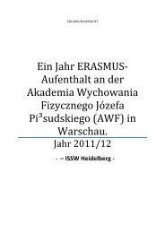 in Warschau. - Institut für Sport und Sportwissenschaft
