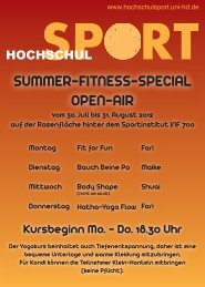 SUMMER-FITNESS-SPECIAL OPEN-AIR