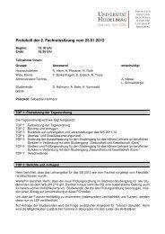 2. Sitzung vom 25.01.2012 (PDF) - Institut für Sport und ...