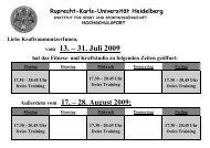 vom 13. – 31. Juli 2009 - Institut für Sport und Sportwissenschaft ...