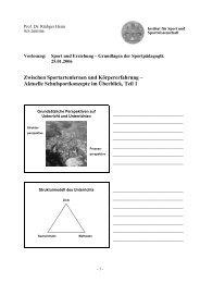 Zwischen Sportartenlernen und Körpererfahrung - Institut für Sport ...