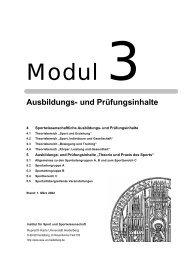 Modul 3 Spalte_neu - Institut für Sport und Sportwissenschaft ...