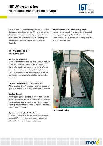 IST UV systems for: Manroland 500 Interdeck drying - IST METZ