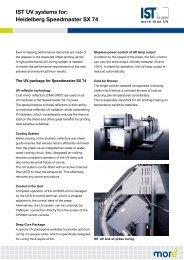 IST UV systems for: Heidelberg Speedmaster SX 74 - IST METZ