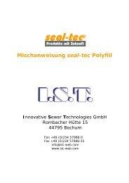 Mischanweisung seal-tec Polyfill - Ist-web.com
