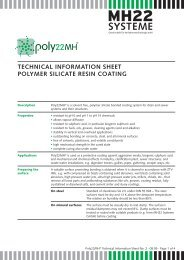 technical information sheet polymer silicate resin coating - Ist-web.com