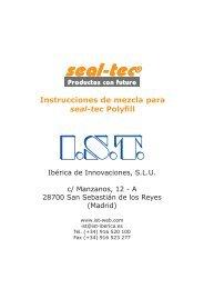 Instrucciones de mezcla para seal-tec® POLYFILL ... - Ist-web.com