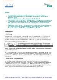 Easy PUR Verarbeitung - Ist-web.com