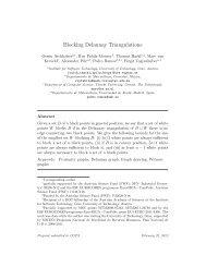 Blocking Delaunay Triangulations - Institute of Software Technology ...